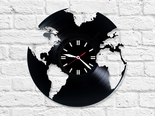 Настенные часы Глобус